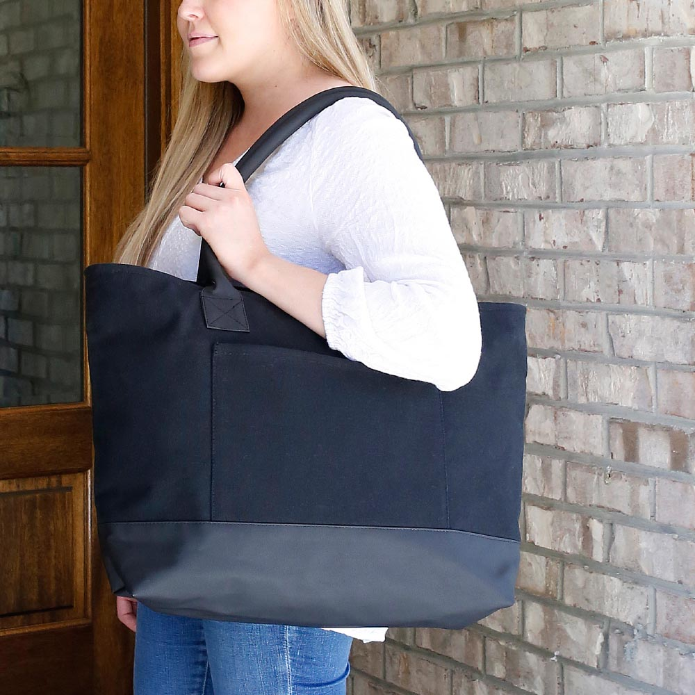 chandler black shoulder tote
