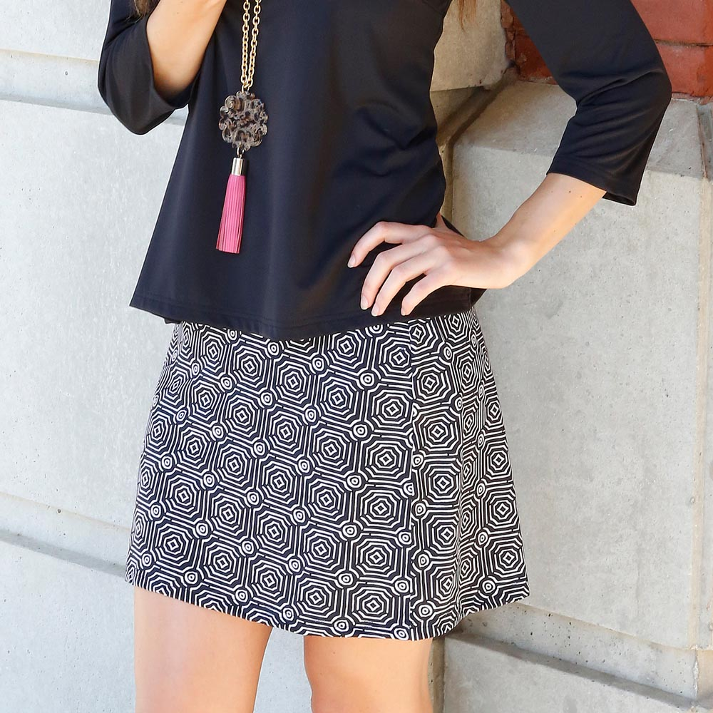 echo black willow poly-knit skirt