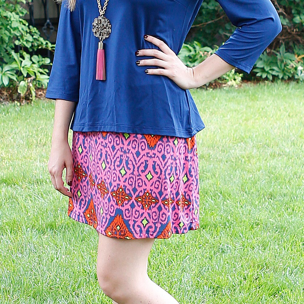 perfect zen willow poly-knit skirt