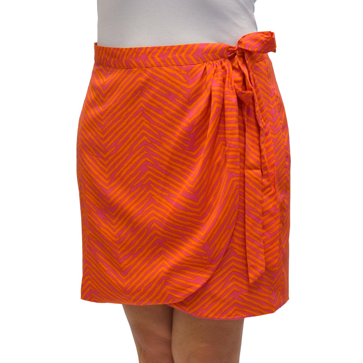tweedle d pink/orange wrap around skirt