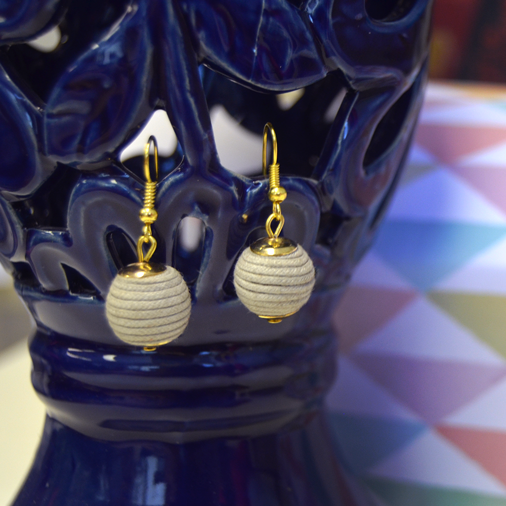 ball drop sand earring