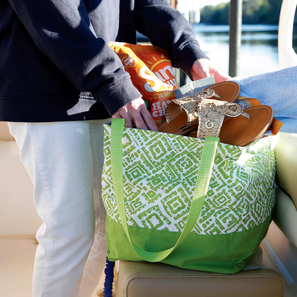 alma lime green square storage tote