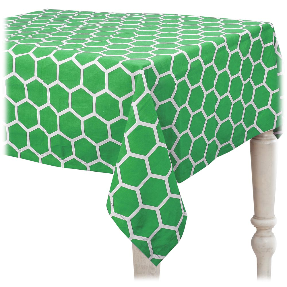 green beeline tablecloth