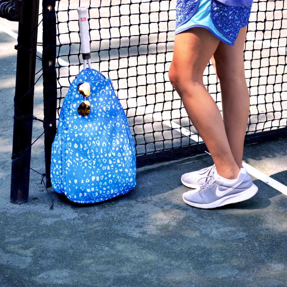 hoopla blue tennis backpack