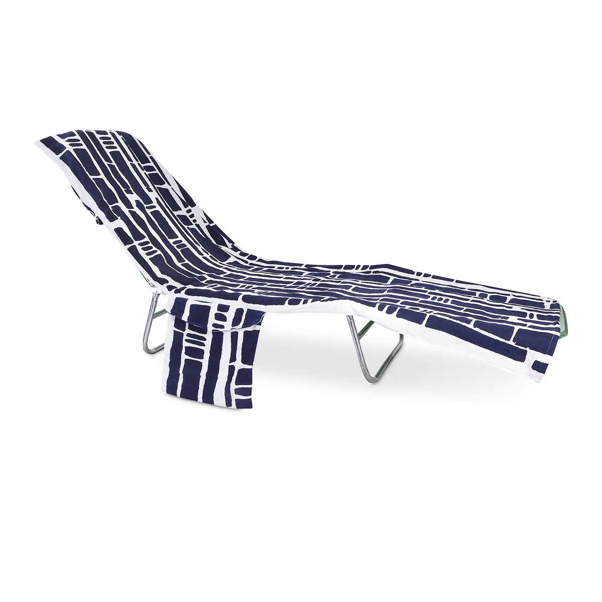 bamboo navy terry lounge cover