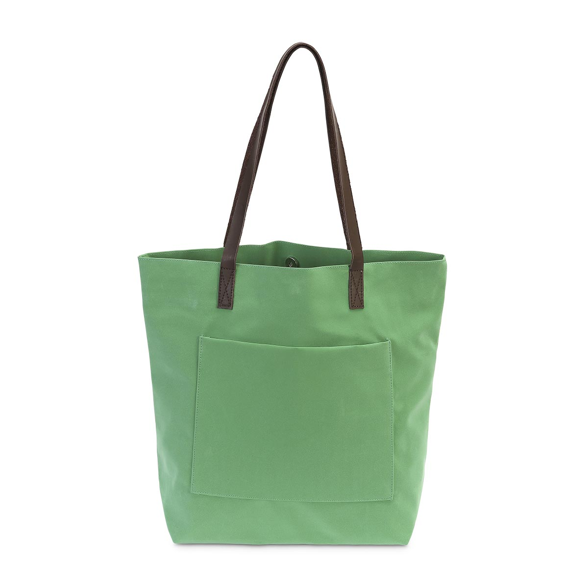 green suede tote