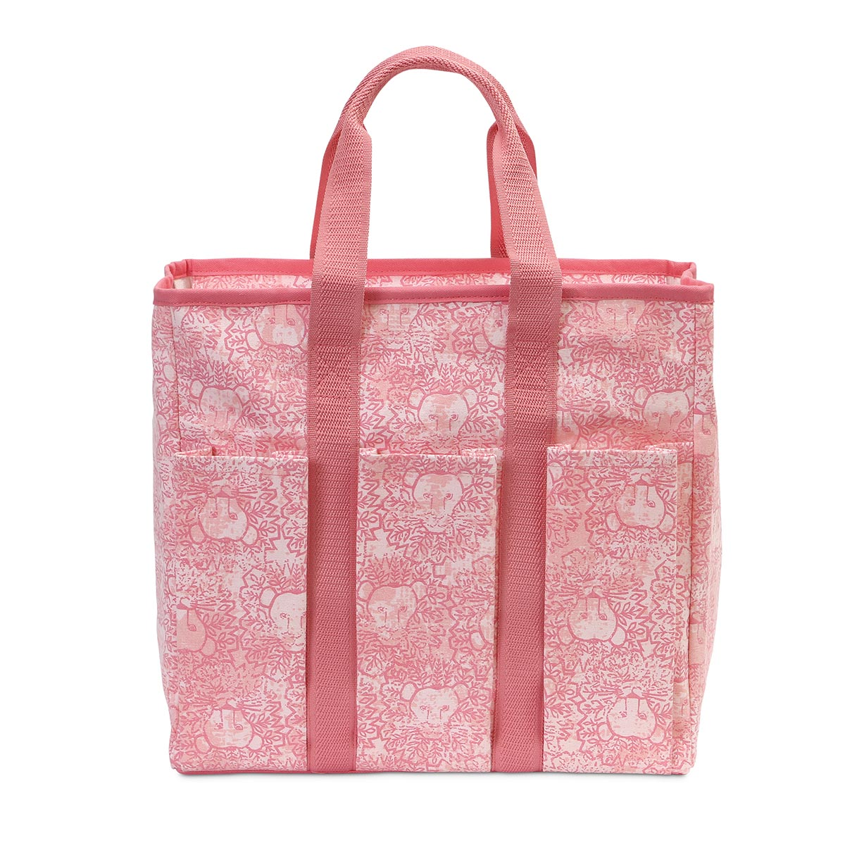 lion around pink everyday tote