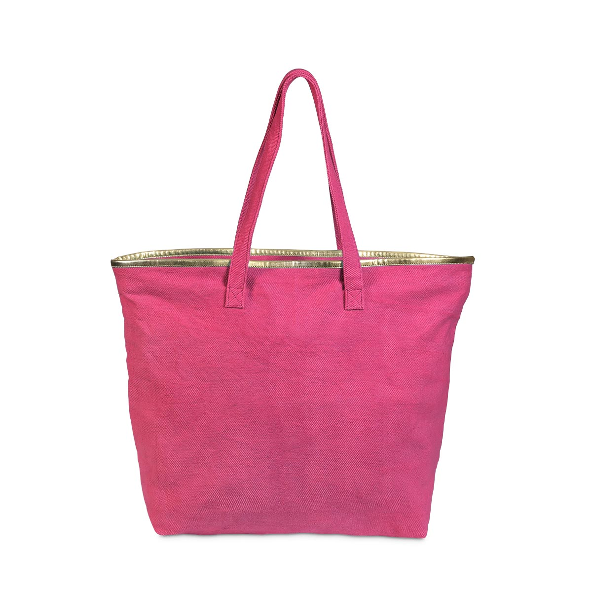 total tote pink, gold trim