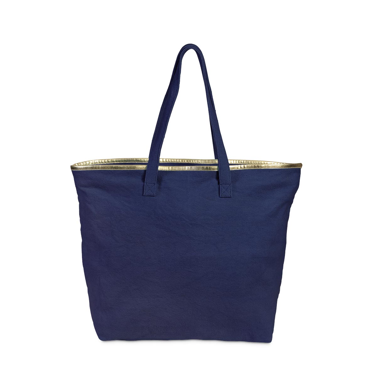 total tote navy, gold trim
