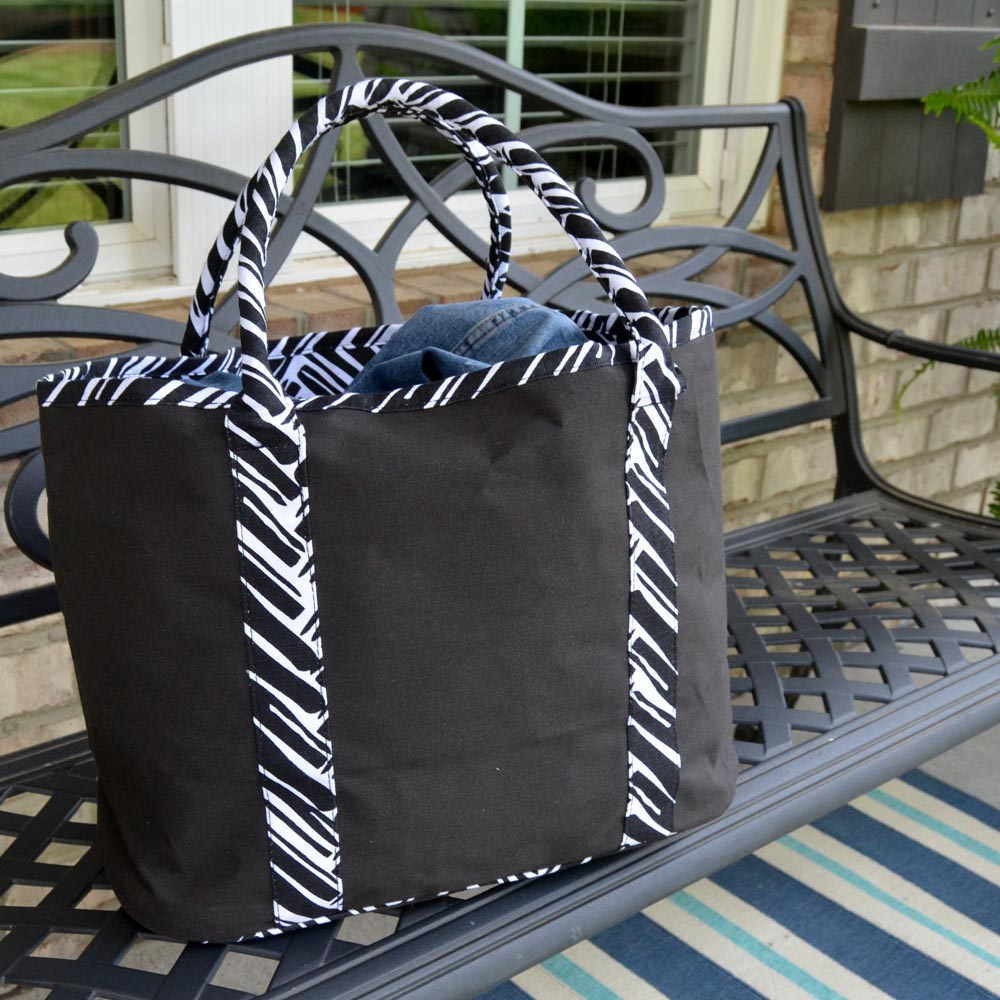 twill do black traveler tote