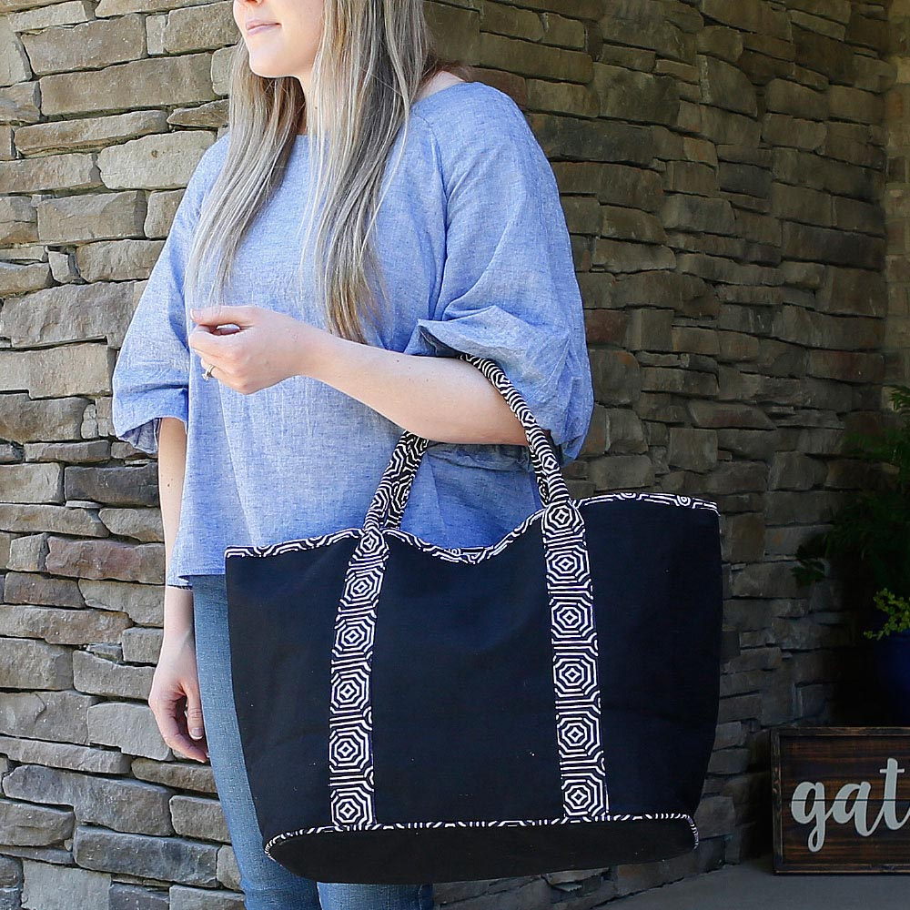 echo black traveler tote
