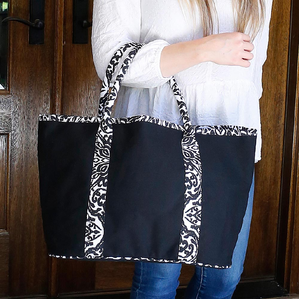 point blank black traveler tote