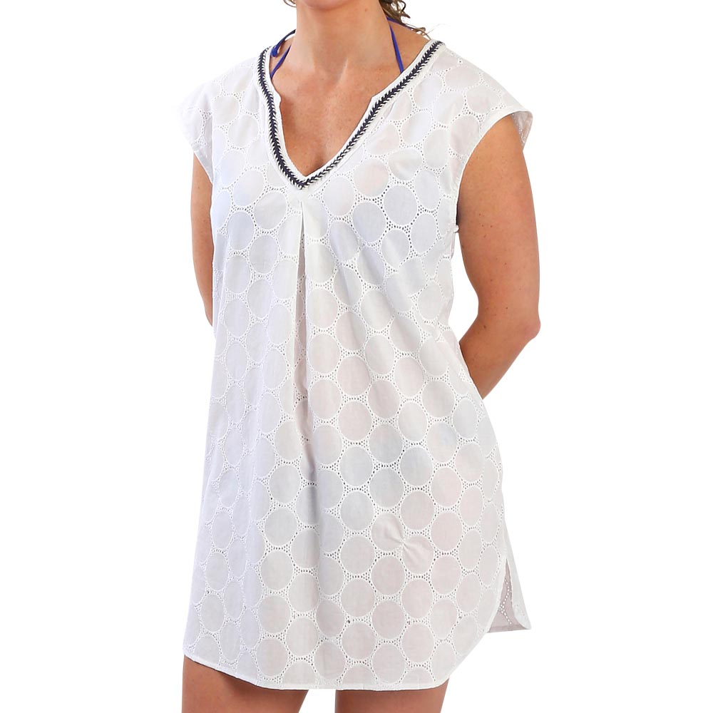 white/navy juliet tunic