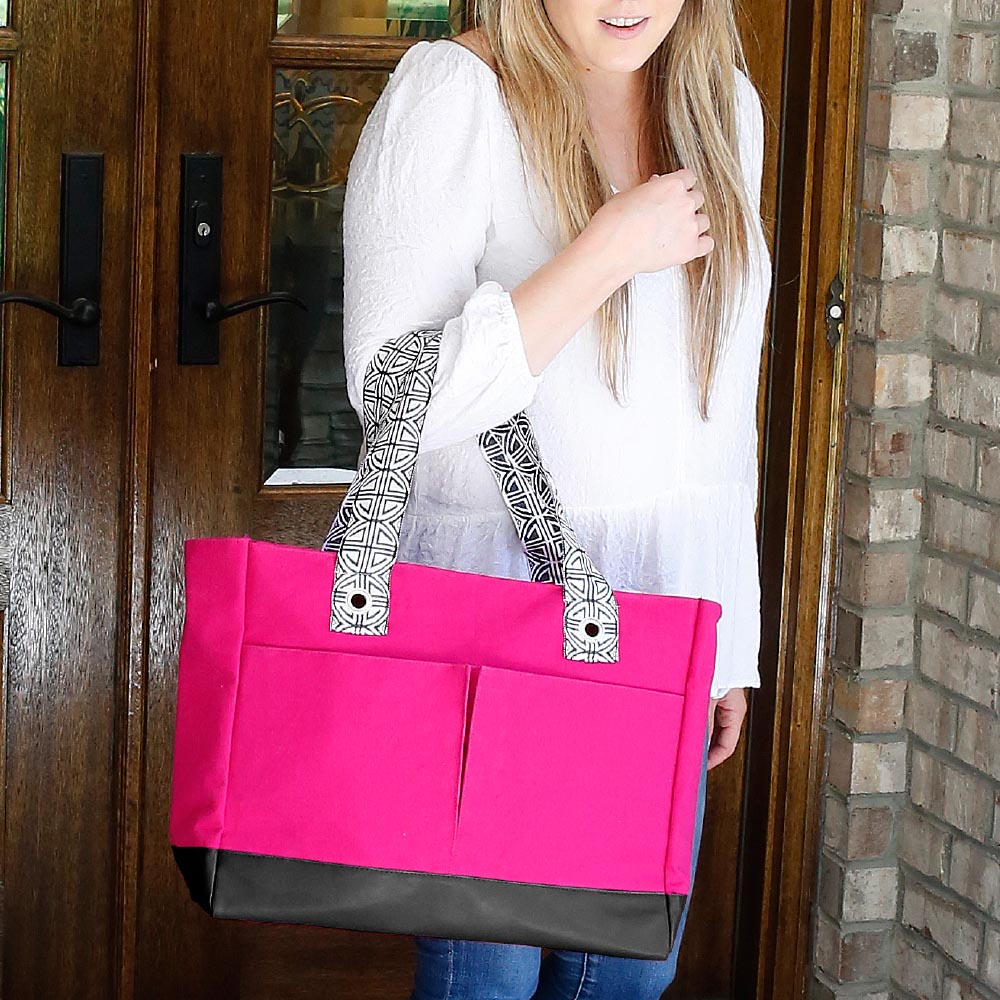 pink toss up tote