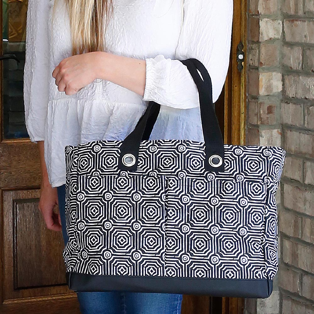 echo black toss up tote