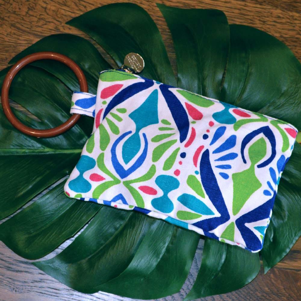 a little off tropic wristlet