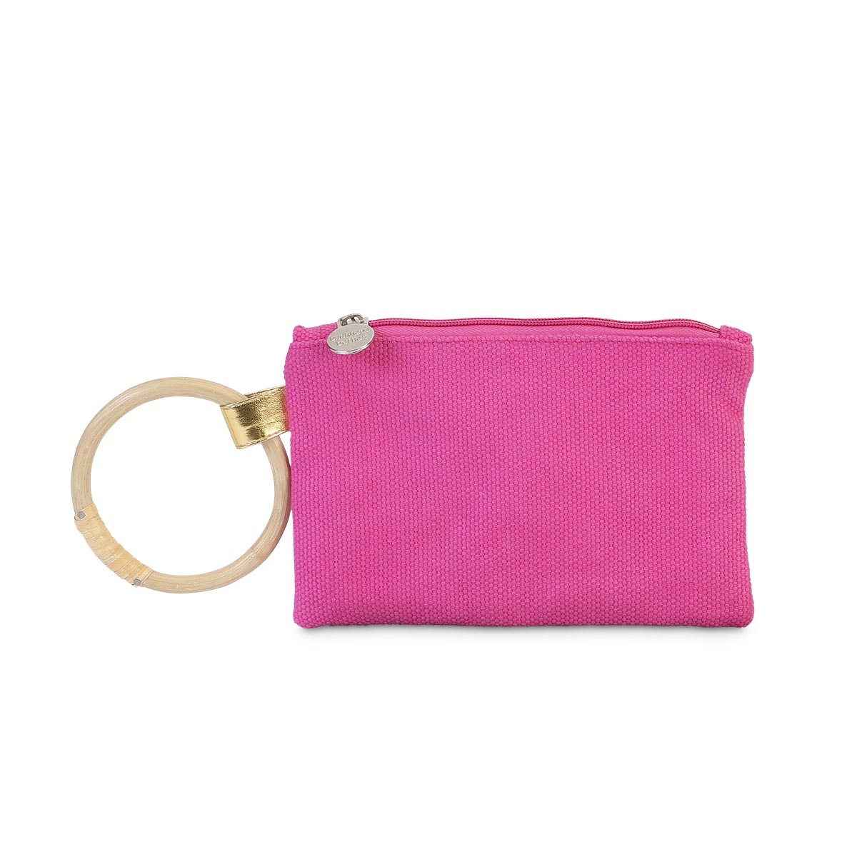 durry wristlet pink, gold trim