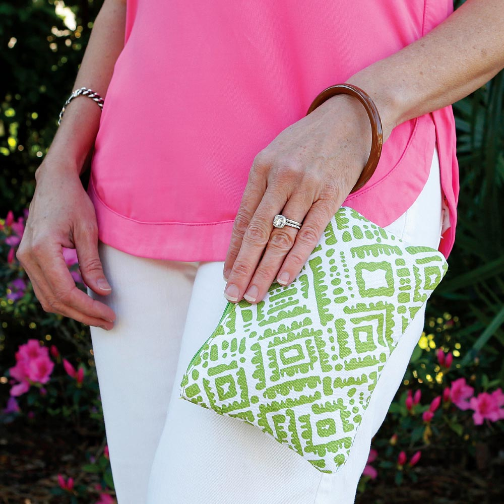 alma lime green wristlet