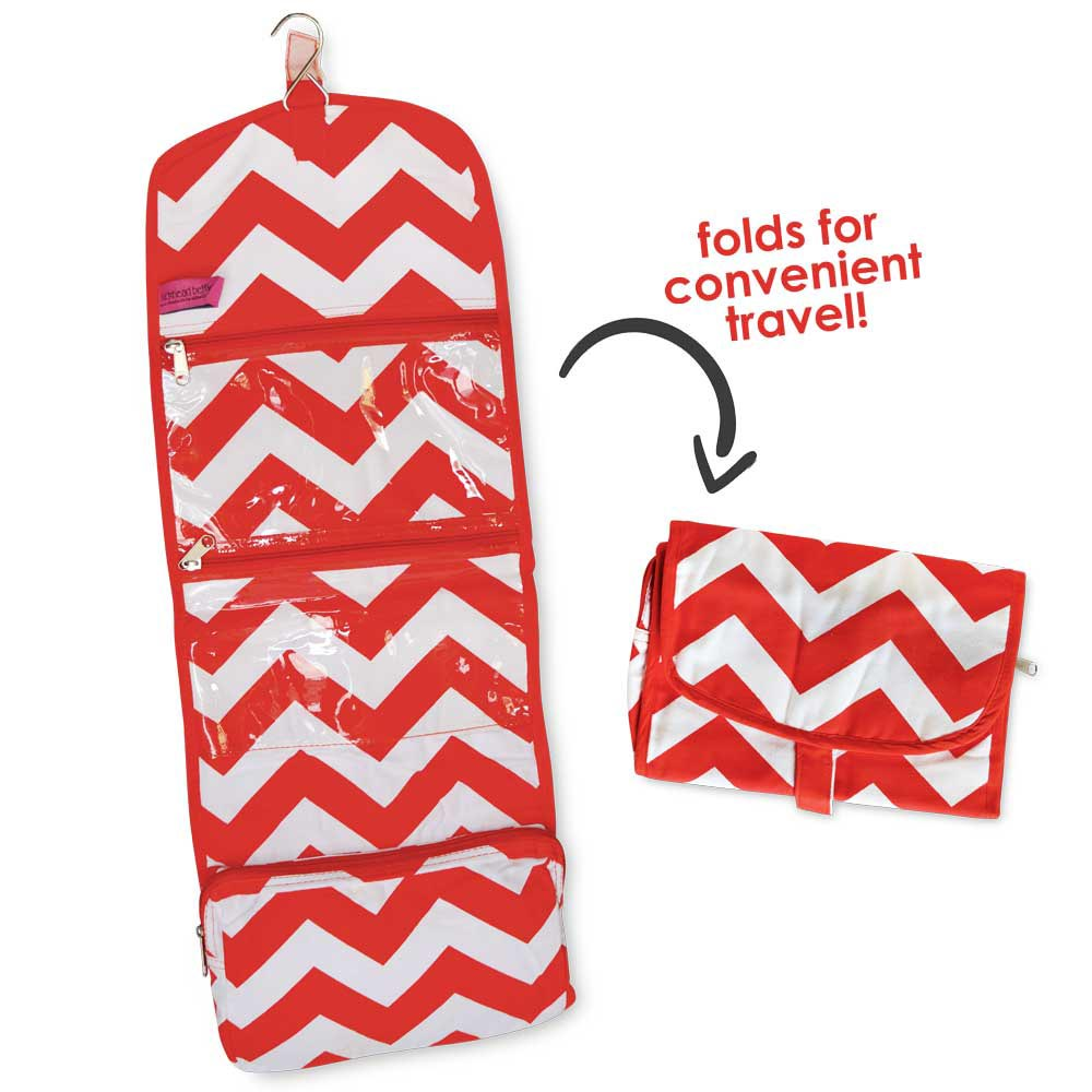 red chevron accessory bag