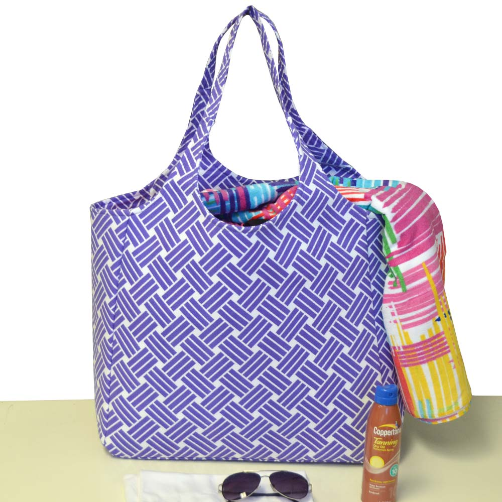 jenny on the block purple big shot bag