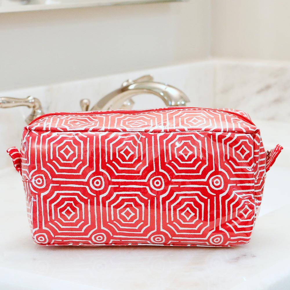 echo red cosmetic zipper bag