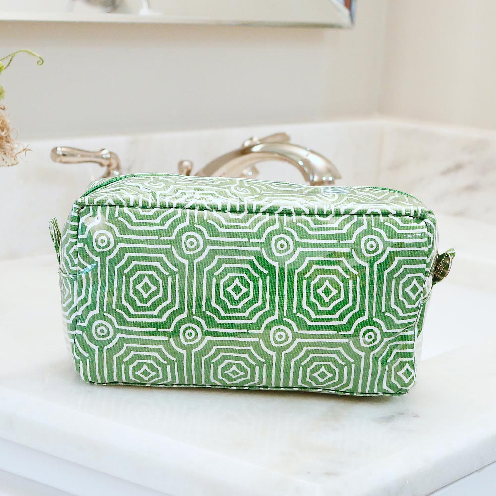 echo green cosmetic zipper bag