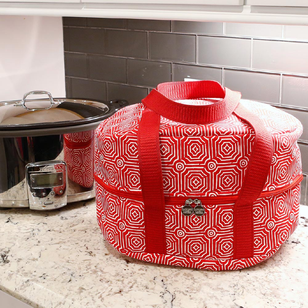 echo red crockpot carrier