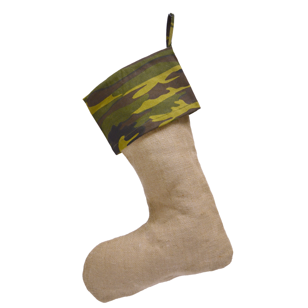 jute stocking with camo top