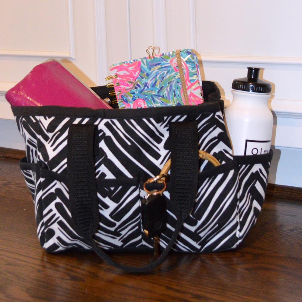 twill do black mini everyday tote