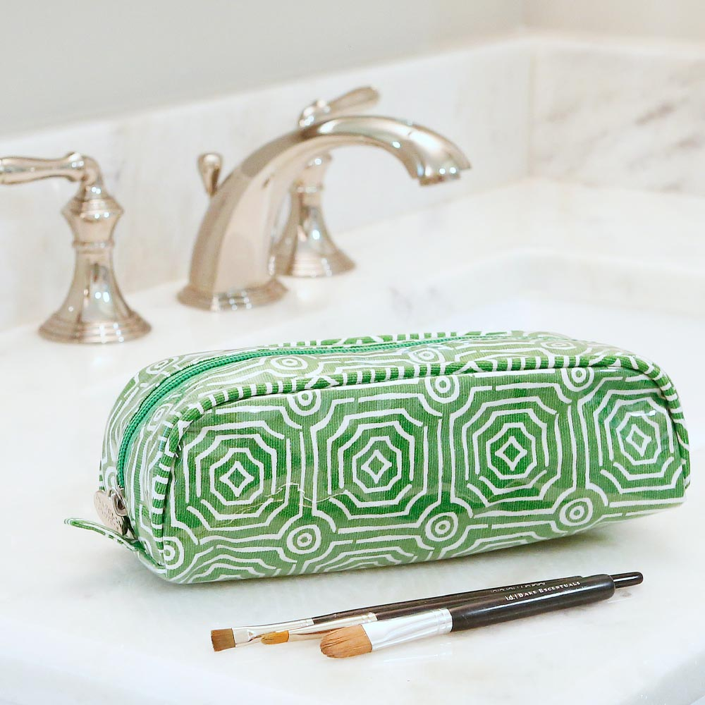 echo green pencil and brush pouch