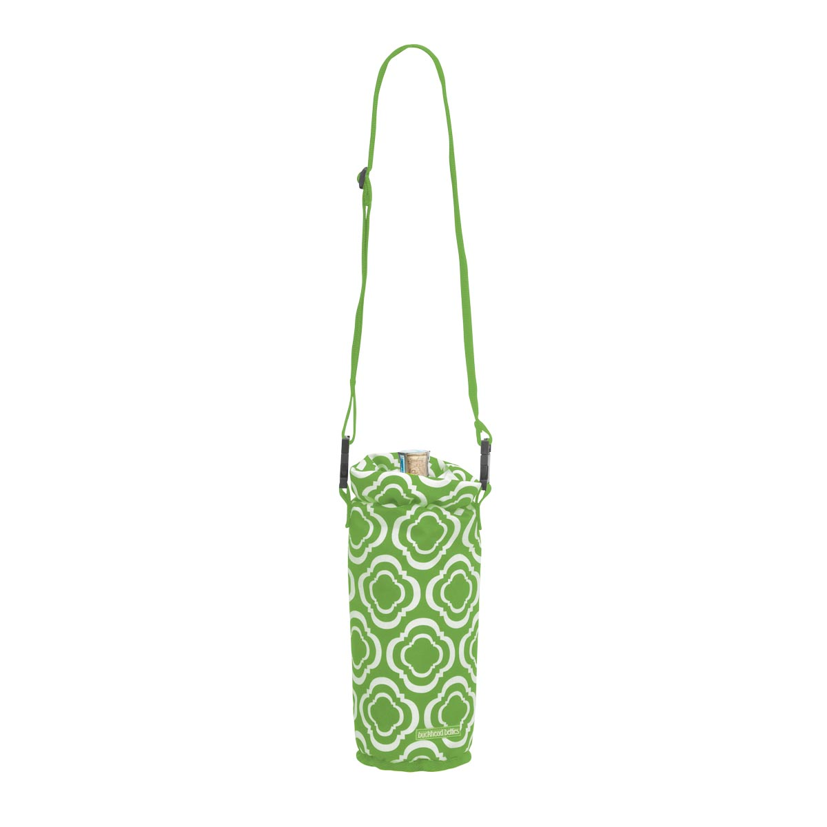 green insulated wine bag
