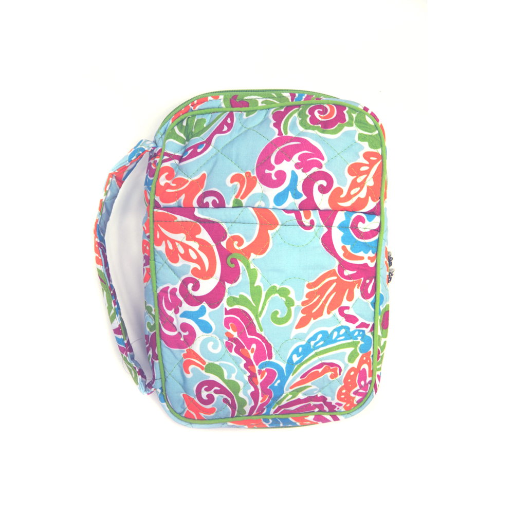 paisley breeze quilted bible cover