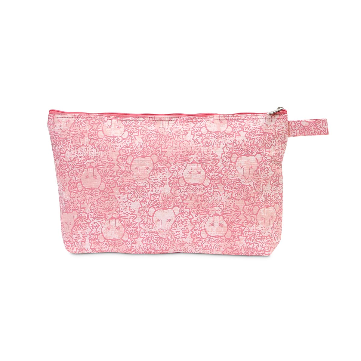 lion around pink zipper bag