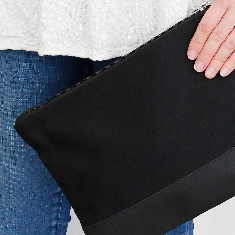 chandler black zipper bag
