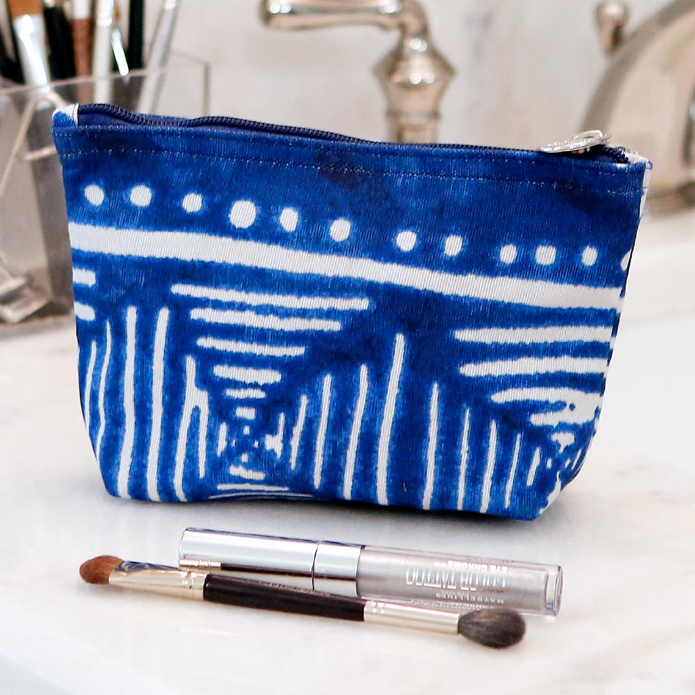 indigo daze zipper bag mini w/tassle