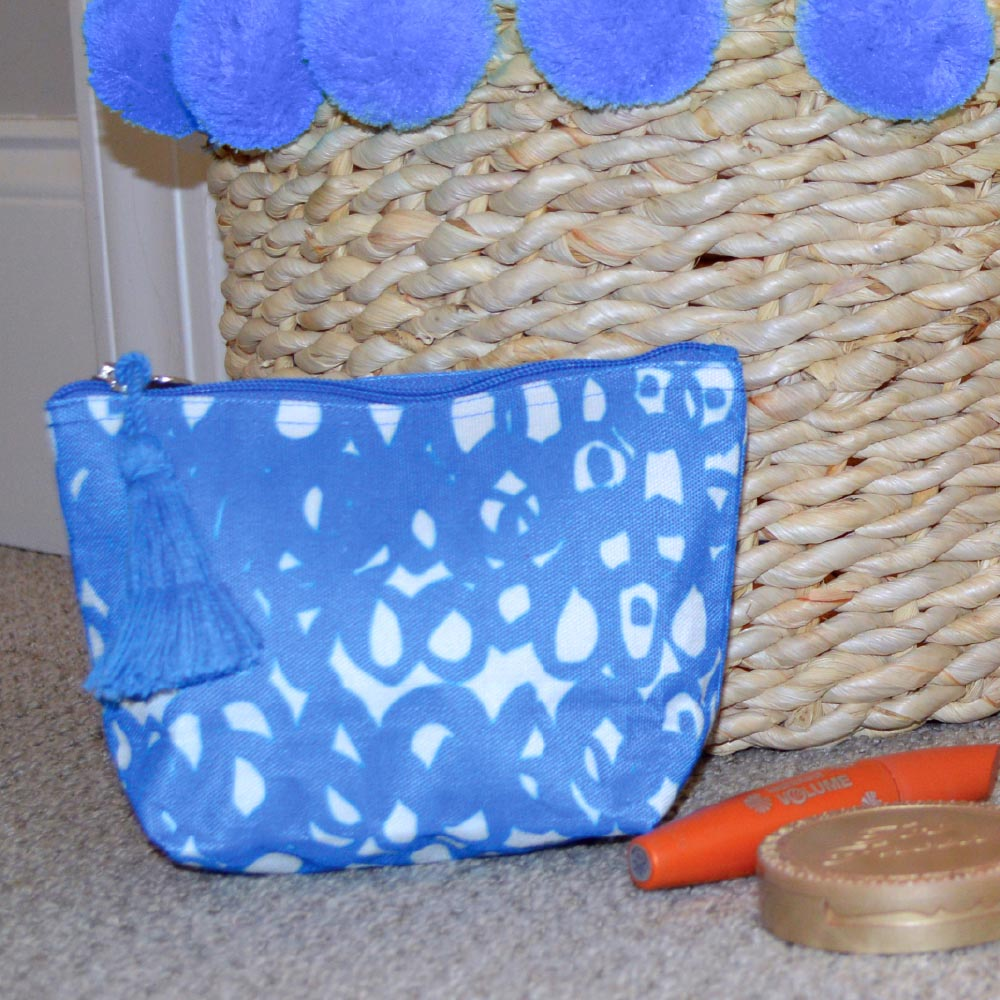 hoopla blue zipper bag mini