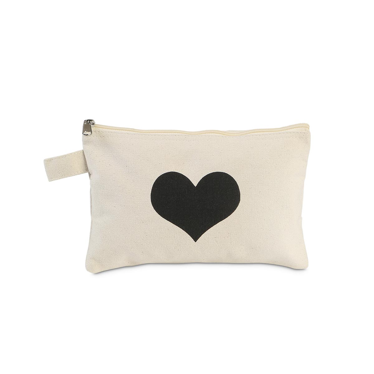 zipper bag printed heart