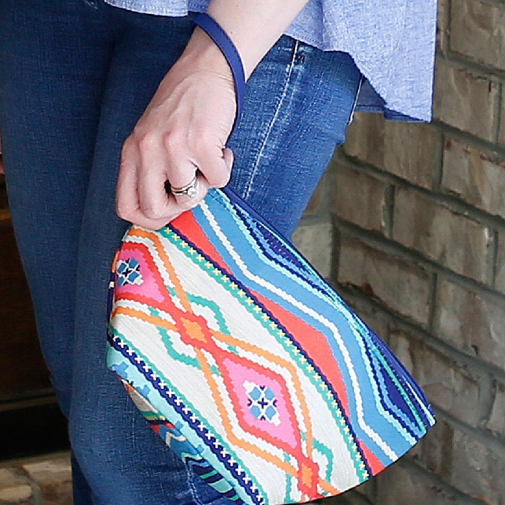 santa fe zipper bag pouch
