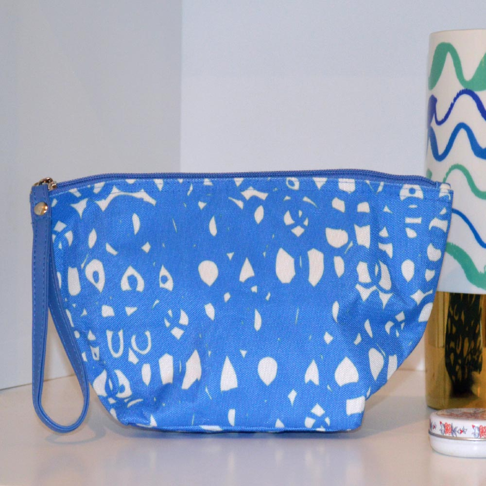 hoopla blue zipper bag pouch