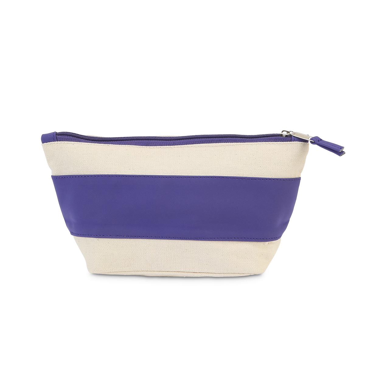 purple suede zipper bag pouch