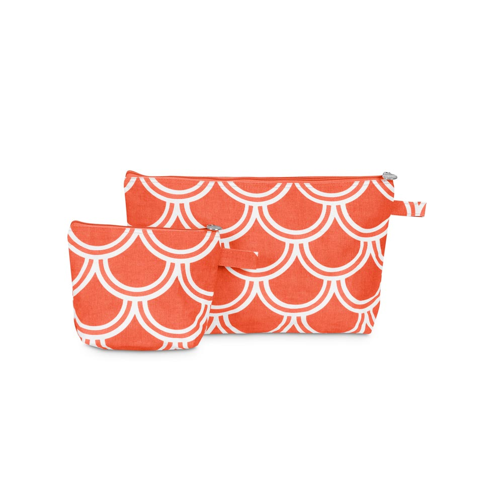 harbor bae orange zipper bag set