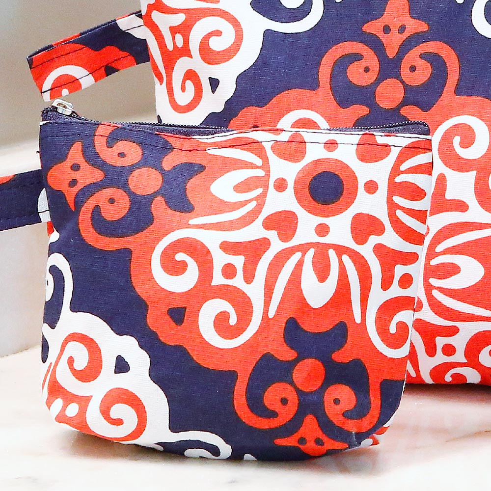 sangria zipper bag set