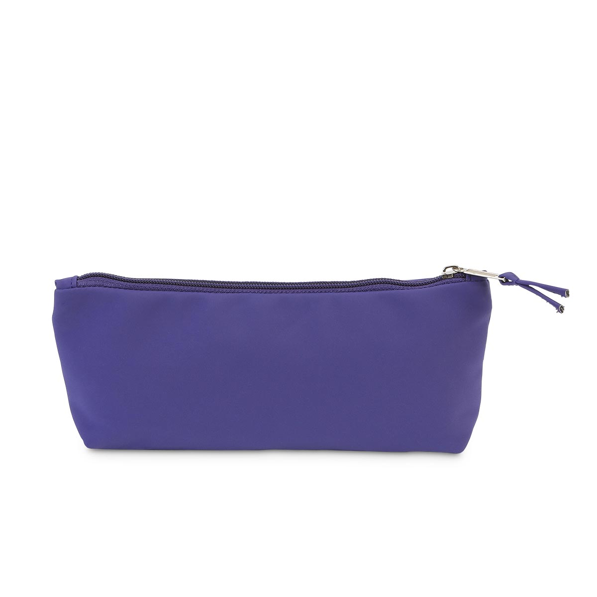 purple suede zipper pouch