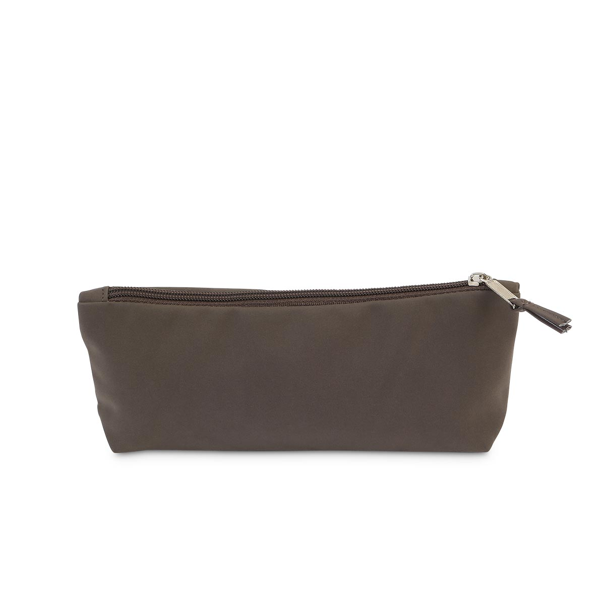 brown suede zipper pouch