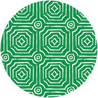 pattern - echo green