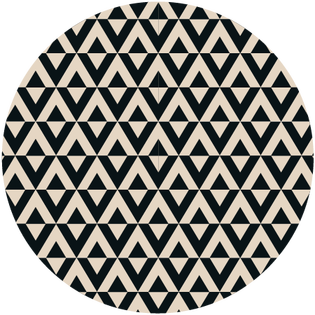 pattern - durry black and cream