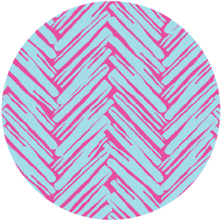 pattern - twill do pink and turquoise