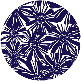 pattern - mosaic floral navy