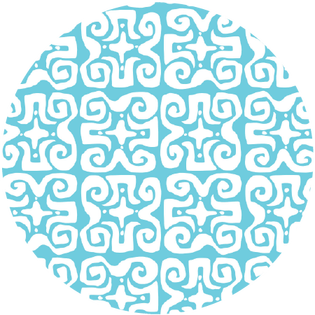 pattern - don't fret light blue