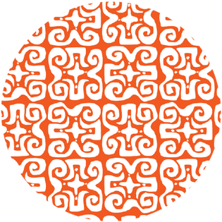 pattern - don't fret orange